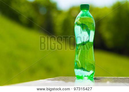 water in the bottle