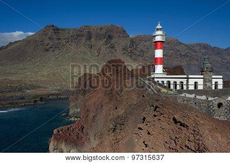 Lighthouse on Punta Teno, Tenerife, Canary Islands, Spain