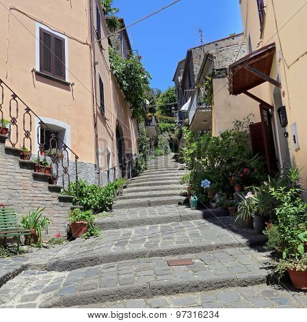 Bolsena (viterbo, Lazio, Italy): Old Typical Street Of The Medieval Town