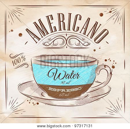 Poster Americano Kraft