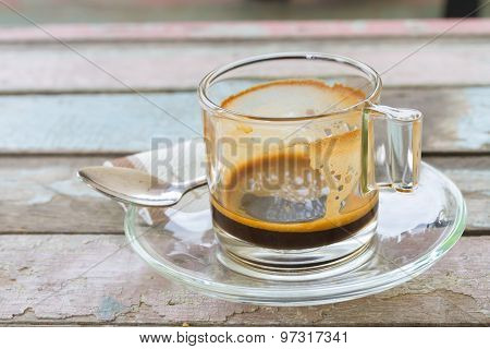 Empty Coffee Cup After Meal
