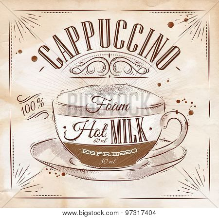 Poster Cappuccino Kraft