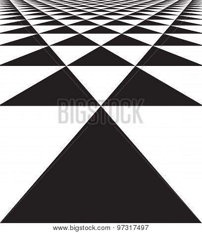 Abstract geometric seamless texture of triangles