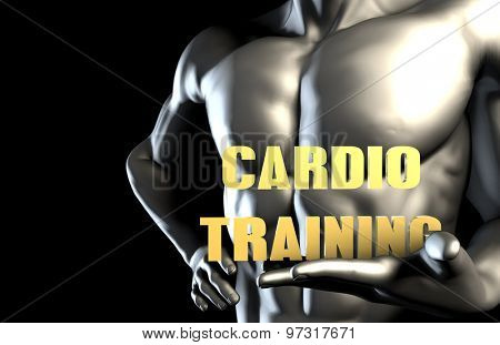 Cardio training With a Business Man Holding Up as Concept