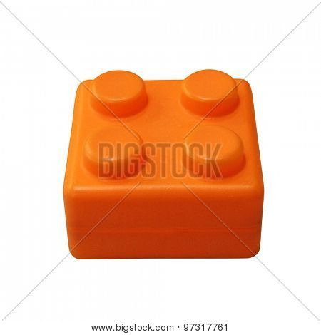 Lego isolated on white background