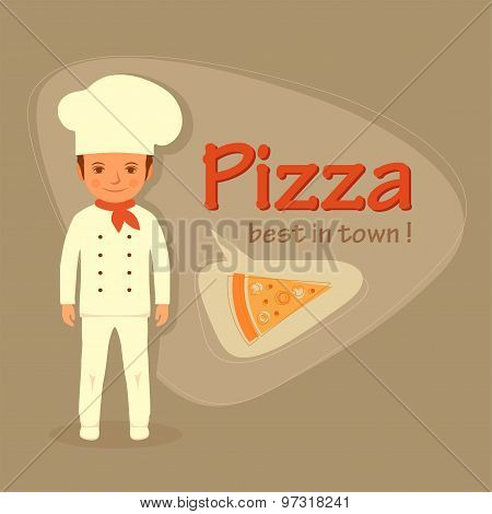 cook profession, pizza slice
