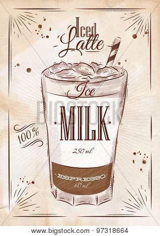 Poster Iced Latte Kraft