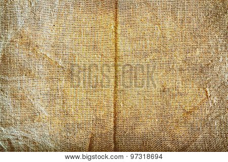 Texture of Sackcloth in grunge style.