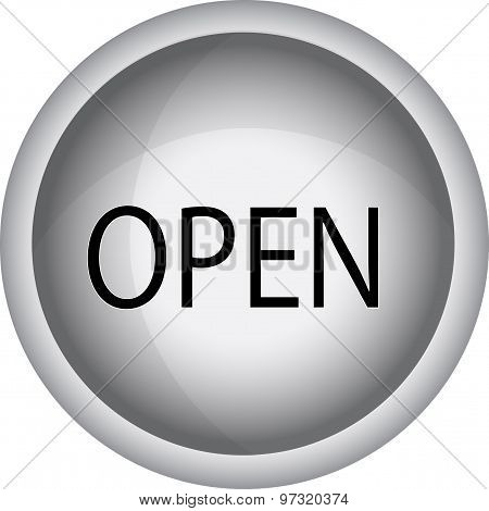 Open Icon. Open Sign - Illustration Sign With Information Welcoming Shop Visitors. Eps 10 Vector Ill