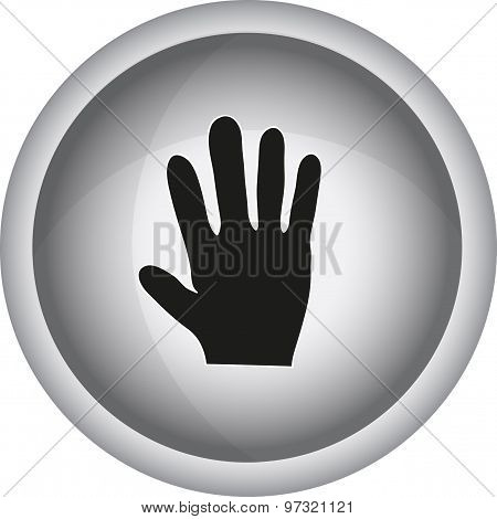 Human Hand  Sign. Vector Icon