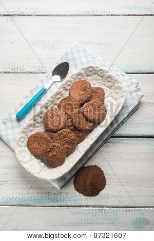 homemade coffee cookie