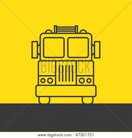 Fire Truck, Silhouette