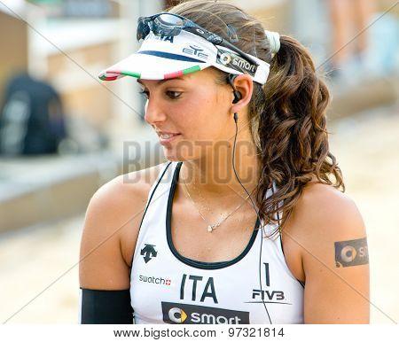Rome, Italy - June 15 2011. Beach Volleyball World Championships. Marta Menegatti Portrait