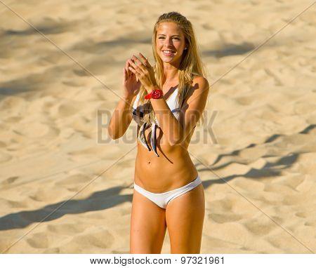 Rome, Italy - June 18 2011. Beach Volleyball World Championships. Marta Gotera Cheerleader