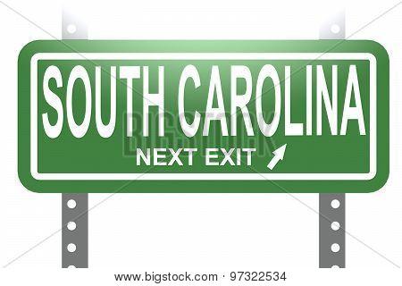 South Carolina Green Sign Board Isolated
