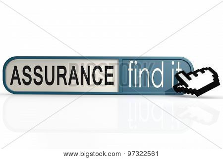 Assurance Word On The Blue Find It Banner
