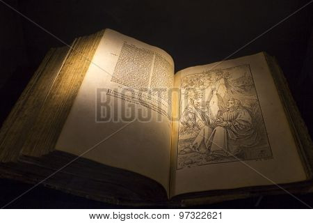 Old book written in latin
