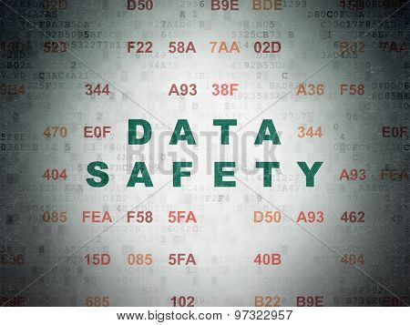 Data concept: Data Safety on Digital Paper background