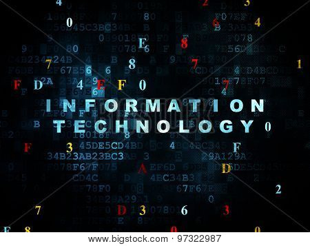 Information concept: Information Technology on Digital