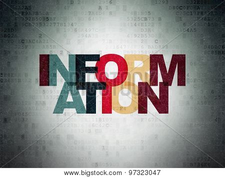 Information concept: Information on Digital Paper background
