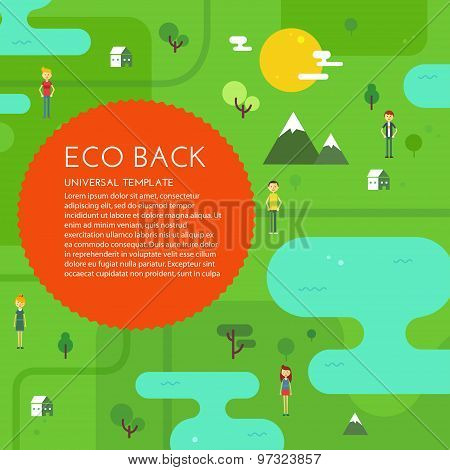 Green eco background.