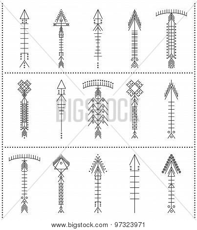 Set Of Geometric Hipster Arrows11