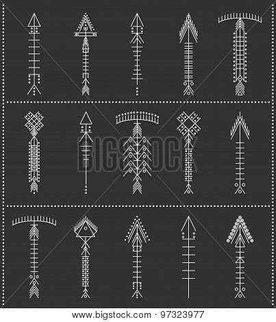 Set Of Geometric Hipster Arrows11Black