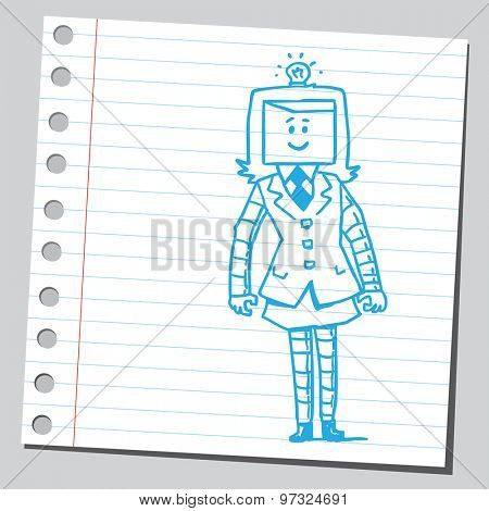 Businesswoman robot