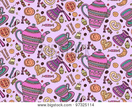 Tea And Coffee Pattern