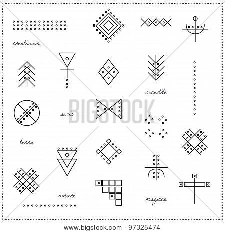 Set Of Geometric Hipster Shapes 9711