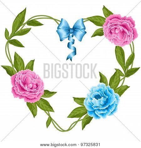 Wreath Of Peonies