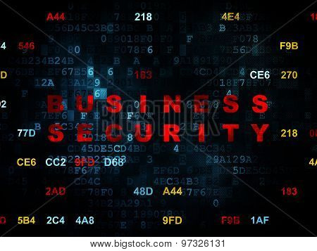 Security concept: Business Security on Digital background