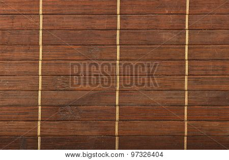 Bamboo Wooden Brown Wicker Braided Mat Background