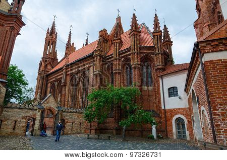 Catholic Church Of St. Anne, Vilnius, Lithuania