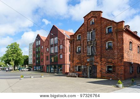 Klaipeda, Old Town, Building On The Embankment Of The River Dane (former Warehouses)