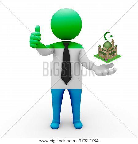 3d businessman people Sierra Leone - Muslim mosque and Islam in Sierra Leone