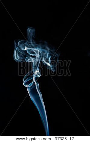 Abstract Smoke Shaped Like Human