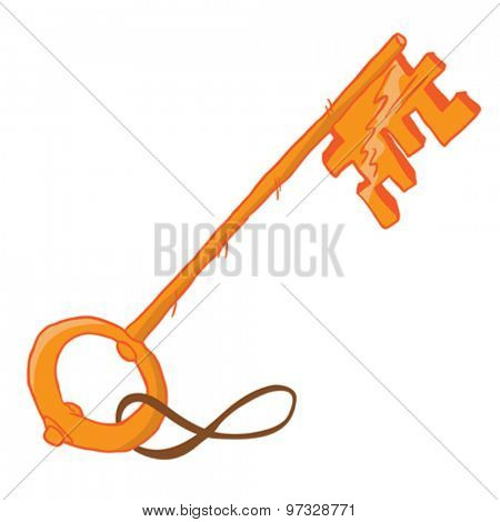 cartoon illustration of a key