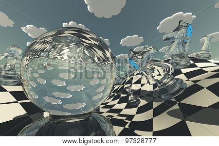 Surreal Chess Landscape