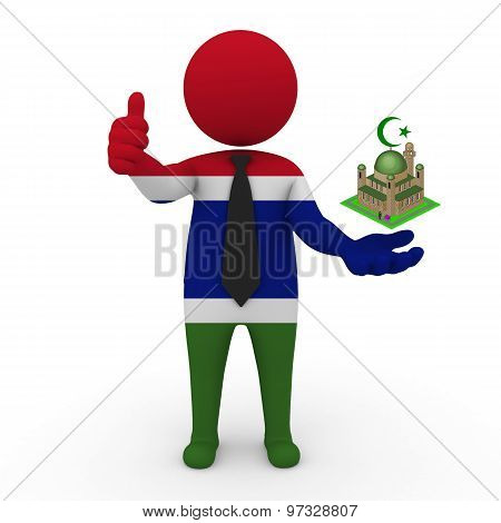 3d businessman people Gambia - Muslim mosque and Islam in Gambia