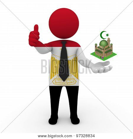 3d businessman people Egypt - Muslim mosque and Islam in Egypt