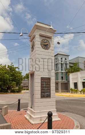 Clock Tower (1937) In George Town Of Grand Cayman Island