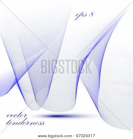 Three-dimensional motif elegant flowing curves, passion background in motion, light romantic eps8