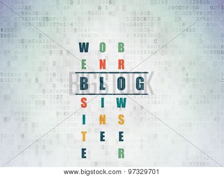 Web design concept: word Blog in solving Crossword Puzzle