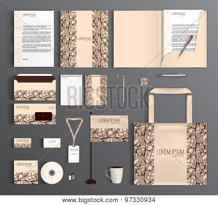 Corporate Identity Set With Abstract Pattern.