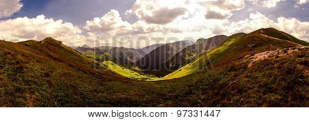 Play of light in the mountains