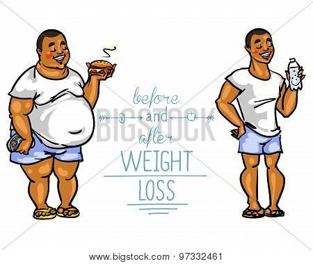 Man Before And After Weight Loss.