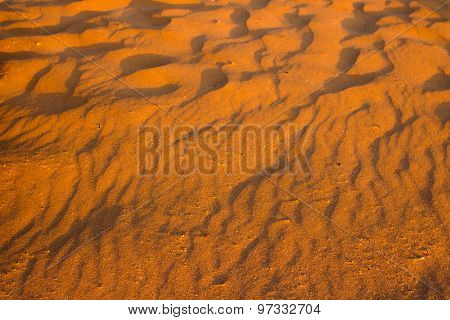 Desert sand pattern texture background from the sand in Sharm el-Sheikh, Egypt