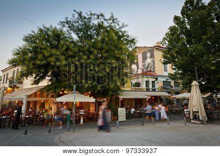 Restaurants in Athens.