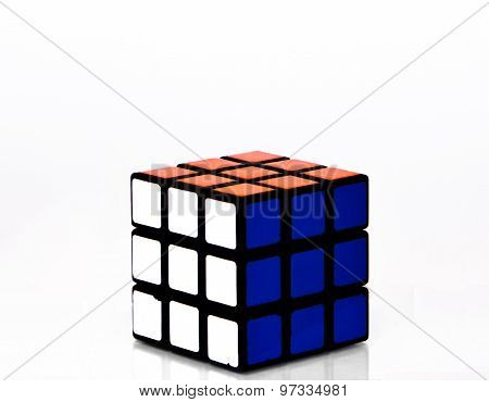 rubic cube in white background